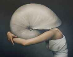 Avian Crown  British artist Amy Judd's oil paintings, mostly of faceless figures, are absolutely enchanting. We especially love the works with feathers – they're so mysterious and captivating.