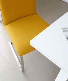 The Zen White Gloss and Fergus Mustard Dining Bench Set combines a modern dining table with a trendy yellow bench and matching cantilever dining chairs. This mustard dining bench set will add a lovely pop of colour to your dining room. Modern Dining Table, Dining Set, Dining Bench, Dining Chairs, Table And Bench Set, Color Pop, Colour, Dining Furniture, Floor Chair