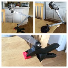 And diy gopro clamp.