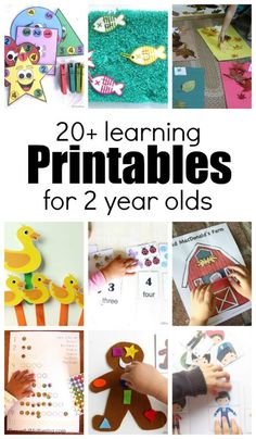 20+ Learning Activities and Printables for 2 Year Olds