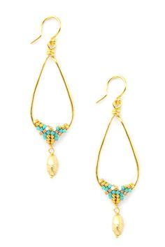 Turquoise Mix Teardrop Earrings