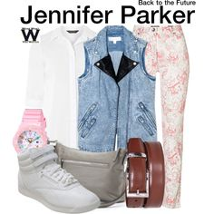 Inspired by Claudia Wells (1985) & Elisabeth Shue (1989) as Jennifer Parks in Back to the Future.