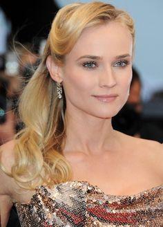 Diane Kruger's elegant hair for the 2012 Cannes Film Festival... we love!