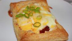 Wienerbrød med Vaniljekrem på 1-2-3 – Spiselise Parma, Chorizo, Baked Potato, Mashed Potatoes, Pineapple, Bacon, Food And Drink, Eggs, Fruit