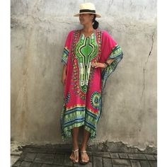 (25.88$)  Watch now - http://aij98.worlditems.win/all/product.php?id=GS438RO - Ethnic Women Cover Up Plus Size Printed V Neck Maxi Boho Hipppie Dashiki Bikini Beach Kaftan Dress