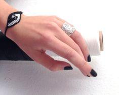 YIN-YANG macrame bracelet/ balance bracelet/ handmade jewelry/ micromacrame/ original designed by Aliki Peppa/gift for him/ gift for her