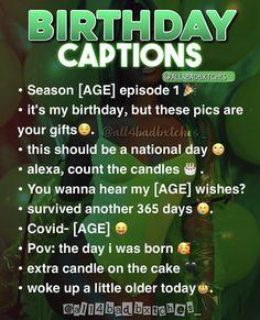 Birthday Captions Instagram, Instagram Captions For Selfies, Instagram Bio Quotes, Lit Captions, Selfie Captions, Cool Captions, Real Quotes, Mood Quotes, Fact Quotes