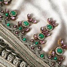 In the making ✨❤️ Tambour Beading, Tambour Embroidery, Hand Embroidery, Embroidery Designs, Moroccan Bride, Moroccan Caftan, Pearl Boutique, Embroidery On Clothes, Caftan Dress