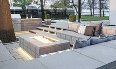7 Ways to Upgrade Your Outdoor Living Area from Techo-Bloc Photos Living Pool, Outdoor Living Areas, Outdoor Spaces, Raised Patio, Raised Beds, Outdoor Fire Table, Outdoor Decor, Outdoor Ideas, Small Retaining Wall