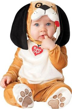 Nothing but puppy breath. This listing is for Puppy Love Infant / Toddler Costume. Costume Includes Jumpsuit, hood with attached floppy ears. Sizes available: 6/12 months, 12/18months, 18 months/2T.In
