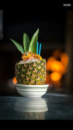 Blue Hawaiian Cocktail Recipes, Cocktails, Drinks, Blue Hawaiian, Planter Pots, Fruit, Plants, Inspiration, Food