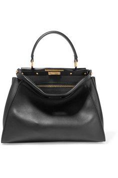 Fendi - Peekaboo Medium Leather Tote - Black