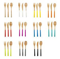 bamboo cutlery from Core Bamboo: $9 / 3 piece setting