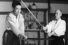 Ueshiba Kisshomaru and Ueshiba Morihei