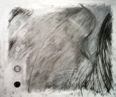 Version 10 of a rubbed back and redrawn image. Charcoal and white crayon. Louise