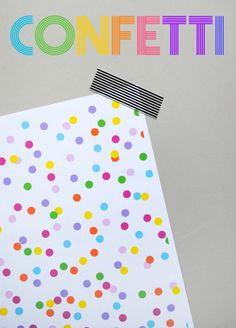 DIY - Digital 'Confetti' Paper - Free PDF Printable
