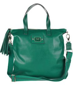 Anya Hindmarch Faithful leather tote in green $440 www.net-a-porter.com