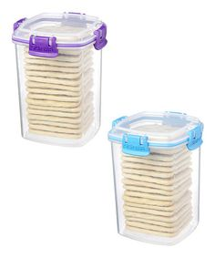 Take a look at this Purple & Blue Medium Cracker Container Set by Sistema on #zulily today!
