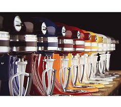 KitchenAid knows mixers and style! Love all of these fabulous colors. Add a pop of color in your kitchen with a useful tool.