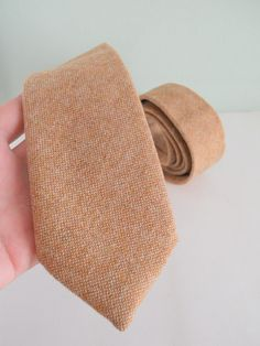 Burlap Toned Wool Neck Tie by HandsomeAndLace on Etsy