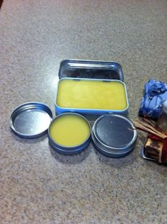 This is some of the home made lip balm we made today.  Consists of coconut butter, bees wax pellets, coconut oil, and Honey.  Turned out very well.