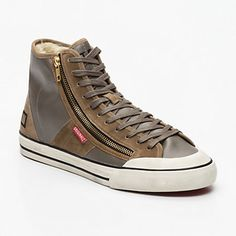 Sneakers montantes Blender, cuir nappa taupe tige : 11 cm D.A.T.E. homme