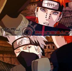 Kakashi vs Pein Naruto Series, Kakashi, Naruto Shippuden, Nerd, Fandoms, Fan Art, Manga, Anime, Fictional Characters