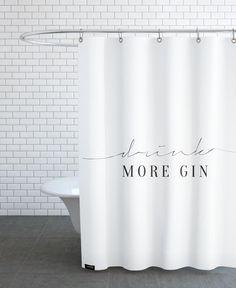 Drink More Gin als Duschvorhang von Honeymoon Hotel | JUNIQE