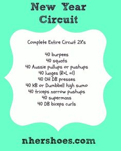 A New Year Circuit Workout - nhershoes