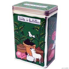 Boite DE Conservation Lentilles EN Metal Rangement Cuisine DLP Derriere LA Porte   eBay