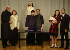 The 3 couples & St Theresa from CONFESSIONS 2.23.14 [ptmc, Virginia Thomas, Lily Ali-Oshatz, James Salem, Jake Russo, Maria Becvar, Seth Shirley] All photos: Dianne Tack