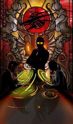 Shadowrun Tarot Card by Echo Chernik