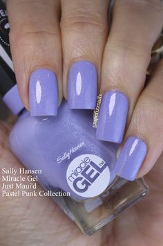 "Sally Hansen Miracle Gel ""Just Maui& (Collezione Pastel Pink) - Pedicure Designs, Nail Manicure, Manicure And Pedicure, Gel Nails, Pedicure Ideas, Pretty Nail Colors, Gel Nail Colors, Gel Nail Art, Black Ops 3"