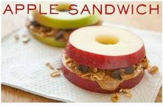 Apple Sandwiches Healthy Snack for kids & parents
