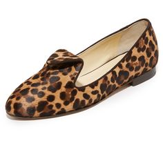 Sarah Flint Andrea Flats (37,480 INR) ❤ liked on Polyvore featuring shoes, flats, leopard print flat shoes, leopard flats, fur shoes, flat pumps and leopard print shoes