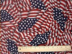 Grand Old Flag Quilt Fabric - US American Flag Patriotic - USA Flags - Retired & Hard-to-Find