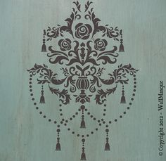 "Decorative Tassle Center Stencil - TassleCenter 12"" x 8.3"""