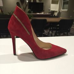 Nine West stylish Red High Heels These are perfect for that night out on the town with the girls or even for adding a little color to date night. Never worn! Nine West Shoes Heels