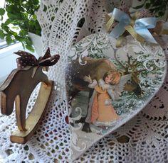 """Купить Интерьерная подвеска""""Лесная сказка""""Новый год. - бежевый, подарок на новый год, подвески, Новый Год, девочки, олени"""