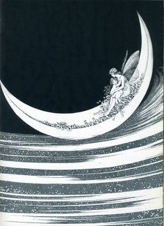 """Moon boats to Dreamland: Australian artist Ida Rentoul Outhwaite's - lovely depictions of children sailing off on magical adventures at night-- the beauty of dreaming. Alphonse Mucha, Fairy Land, Fairy Tales, Vintage Fairies, Vintage Moon, Moon Art, Stars And Moon, Folklore, Faeries"