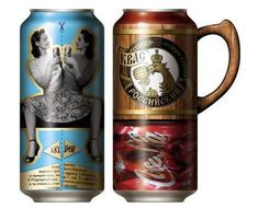 Beer can packaging. The handle is interesting, but the graphics…