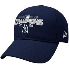 New Era New York Yankees Navy Blue 2009 World Series Champions Wool Blend Structured Adjustable Hat