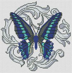 Gallery.ru / Blue Triangle - Butterflies - Norsvet
