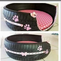use old tires and scrap material or old clothes