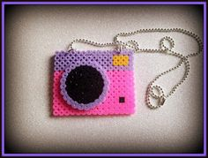 Hama cute camera necklace