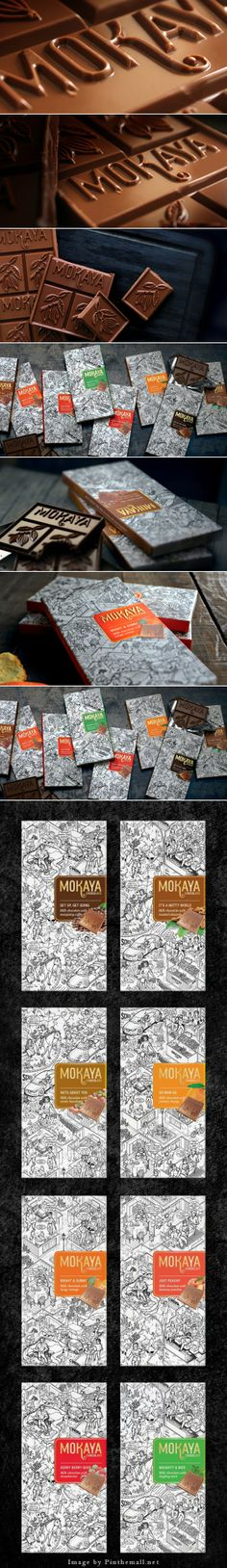 Mokaya Chocolates Agency: Diana Design Designer: Diana Bharucha Illustration - Denver Kotian Type of work: Commercial Work Client: Shalimar Teahouse, Malaysia Country: India