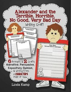 New from Linda Kamp:  Alexander and the Terrible Horrible No Good Very Bad Day Writing Craft