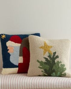 Garnet Hill Hooked Wool Pillow Cover Collection