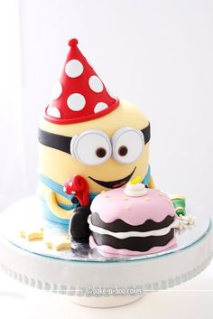 Another 3D Party Minion cake by Bake-a-boo Cakes NZ via Flickr