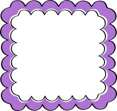 school theme border clipart green scalloped frame free clip art rh pinterest com purple ribbon border clip art purple flower border clip art